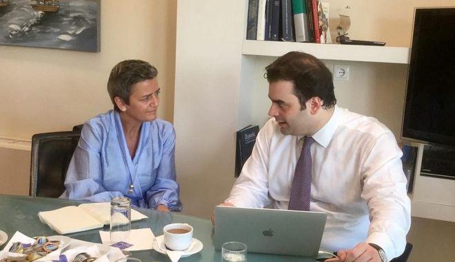 Συνάντηση Πιερρακάκη - Βεστάγκερ για την ψηφιακή διακυβέρνηση