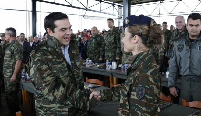 Prime Minister at military excersize Parmenion 2015, in Alexandroupoli, on Oct. 9, 2015 /         2015,  9 , 2015