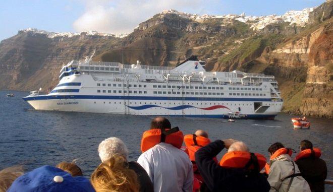 Το ναυάγιο του Sea Diamond στη Σαντορίνη