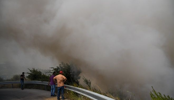 Στιγμιότυπο από την φωτιά στην Εύβοια