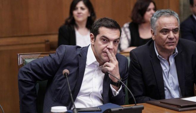 Ο πρωθυπουργός Αλέξης Τσίπρας στο υπουργικό συμβούλιο