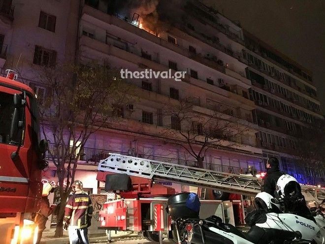 Δραματικές στιγμές στη Θεσσαλονίκη: Φωτιά σε διαμέρισμα - Απεγκλωβίστηκαν τρία παιδιά