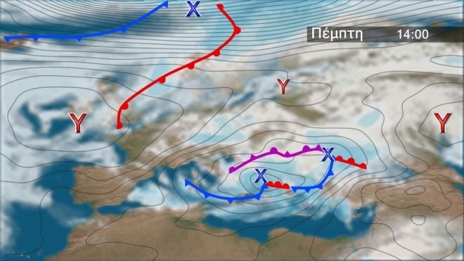 Συνεχίζεται το κύμα κακοκαιρίας: Καταιγίδες και χιόνια στα ορεινά