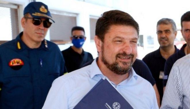 O Υφυπουργός Πολιτικής Προστασίας Νίκος Χαρδαλιάς
