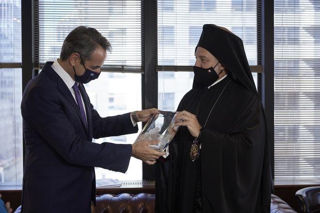 Συνάντηση Κυριάκου Μητσοτάκη - Αρχιεπισκόπου Ελπιδοφόρου στη Νέα Υόρκη