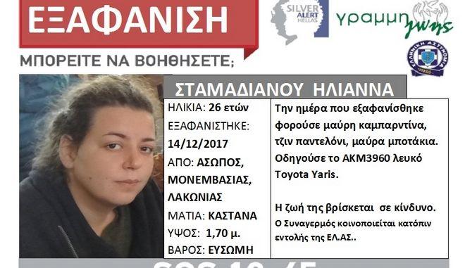 Τραγικός επίλογος για την αγνοούμενη Ηλιάννα- Έπεσε με το αυτοκίνητό της από γκρεμό