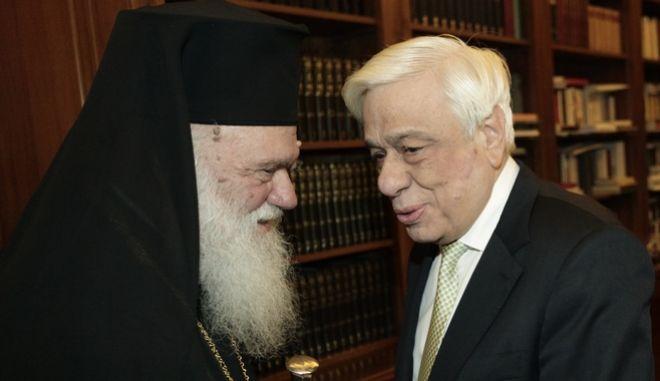 Εύσημα Παυλόπουλου σε Αρχιεπίσκοπο Ιερώνυμο