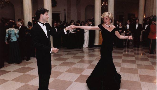 Πριγκίπισσα Νταϊάνα και Τζον Τραβόλτα στο Λευκό Οίκο, 1985