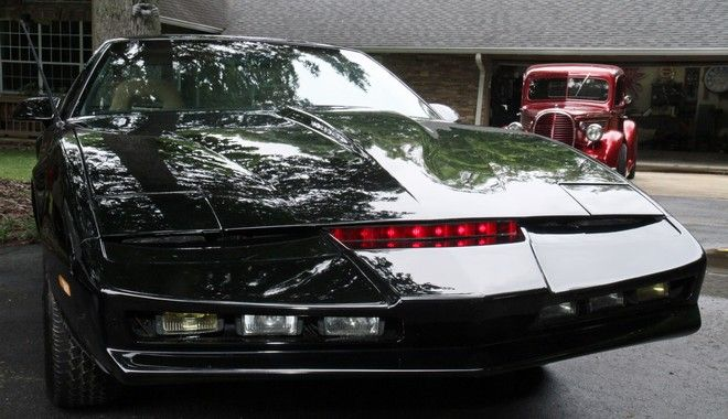 This undated photo shows a replica of KITT from