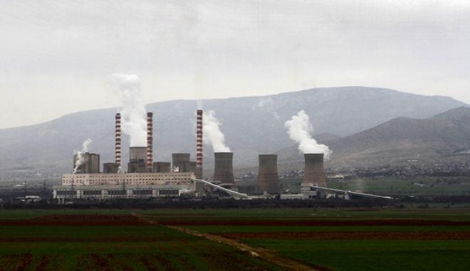 Το εργοστάσιο της ΔΕΗ στην Πτολεμαΐδα. (EUROKINISSI/ΘΑΝΑΣΗΣ ΚΑΛΛΙΑΡΑΣ)