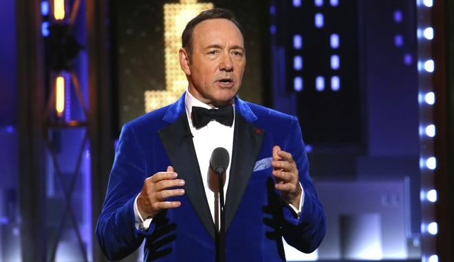 Kevin Spacey performs at the 71st annual Tony Awards on Sunday, June 11, 2017, in New York. (Photo by Michael Zorn/Invision/AP)