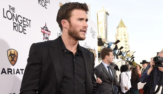 "Scott Eastwood arrives at the premiere of ""The Longest Ride"" at the TCL Chinese Theatre on Monday, April 6, 2015, in Los Angeles. (Photo by Chris Pizzello/Invision/AP)"