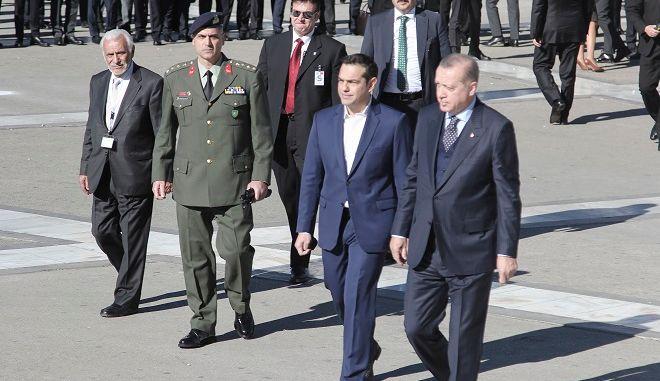Φωτό αρχείου: O Πρόεδρος της Τουρκίας Ρετζέπ Ταγίπ Ερντογάν και ο Αλέξης Τσίπρας