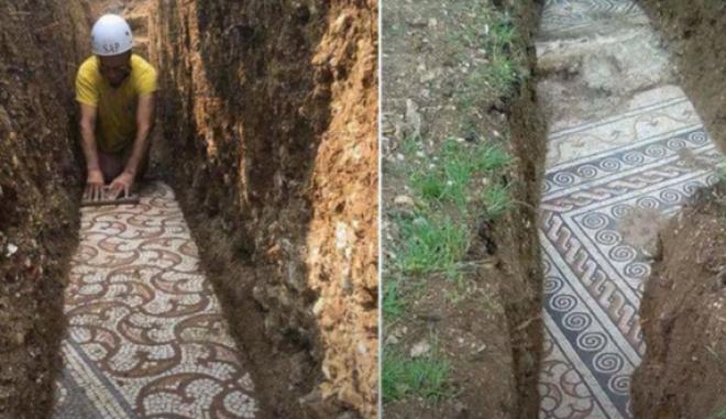 Αρχαίο μωσαϊκό κοντά στη Βερόνα