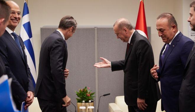 Από τη συνάντηση του Πρωθυπουργού με τον Τούρκο Πρόεδρο.