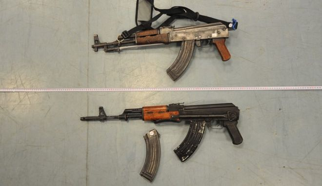Αυτά είναι τα όπλα των 4 συλληφθέντων στην Κοζάνη