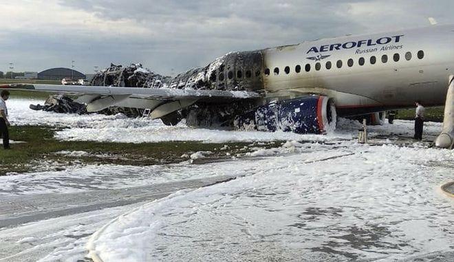 Μόσχα, το αεροσκάφος μετά τη φωτιά