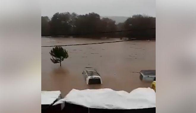 Εικόνες καταστροφής από το πέρασμα του κυκλώνα Ζορμπά