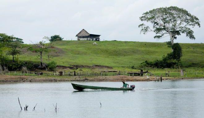 Η λίμνη Gatun στον Παναμά