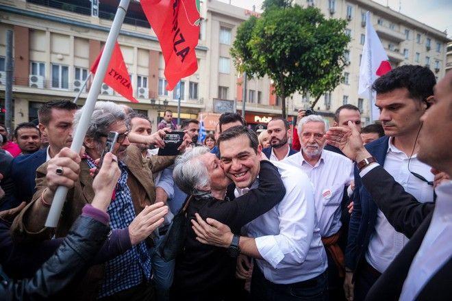 Ομιλία του Πρωθυπουργου Αλέξη Τσίπρα στο Πασαλιμάνι την Κυριακή 19 Μαΐου 2019. (EUROKINISSI/ΓΙΩΡΓΟΣ ΚΟΝΤΑΡΙΝΗΣ)