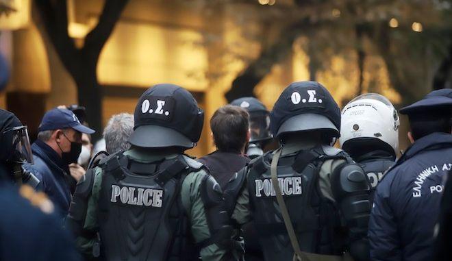 Αστυνομικές δυνάμεις την ημέρα της επετείου του Πολυτεχνείου