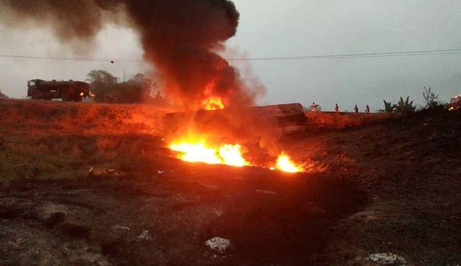Έκρηξη λόγω καυσίμων (φωτογραφία αρχείου)