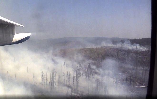 Τεράστιες φωτιές σε δασικές εκτάσεις της Σιβηρίας τον Ιούλιο του 2019.