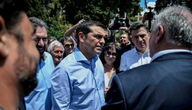 Ο πρόεδρος του ΣΥΡΙΖΑ Αλέξης Τσίπρας σε επίσκεψη στο Μεσολόγγι
