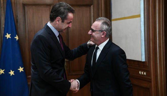 Συνάντηση του Πρωθυπουργού Κυριάκου Μητσοτάκη με τον Πρόεδρο του Δημοκρατικού Συναγερμού, Αβέρωφ Νεοφύτου