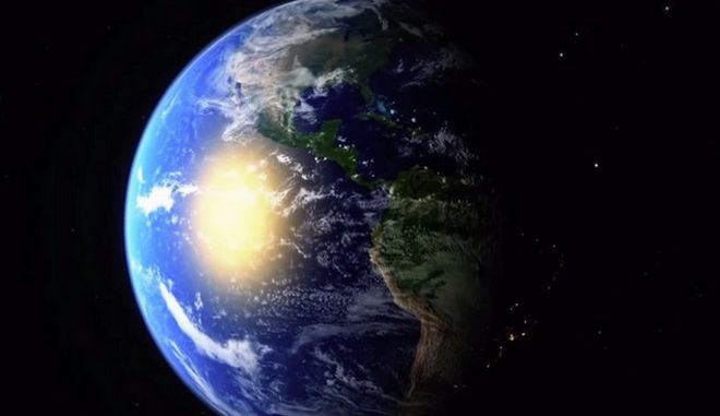 Planet earth view from space