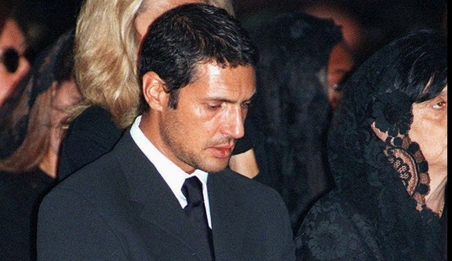 FILE--Antonio D'Amico, boyfriend of the late Italian fashion designer Gianni Versace, at the memorial mass inside Milan's gothic cathedral last July 22, 1997. Private TV network Canale 5 reported Tuesday, September 16, 1997, that according to Versace's will, D'Amico will receive a life annuity of 50 million lire (dlrs 30,000) a month as well as the right to live in any of the designer's residences. (AP Photo/Luca Bruno)