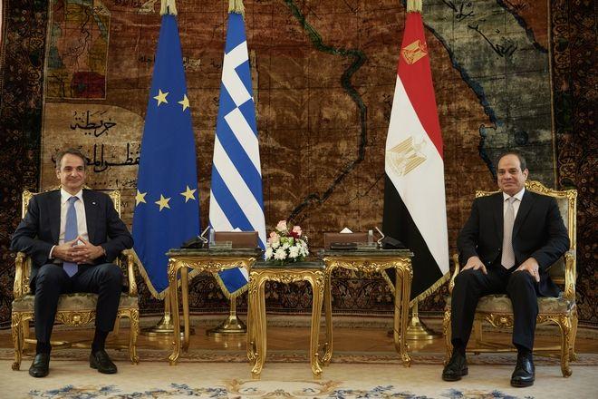 Από τη συνάντηση Μητσοτάκη  - Αλ Σίσι