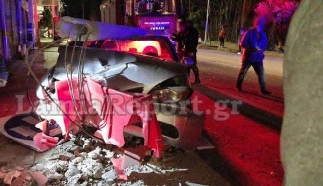 Στιγμιότυπο από το σημείο του δυστυχήματος