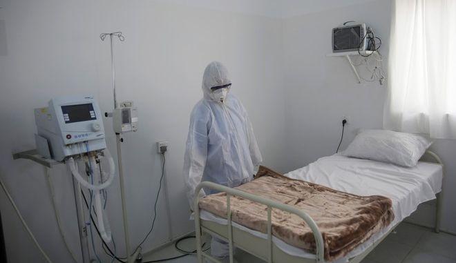 Κρεβάτι νοσοκομείου στη Λιβύη