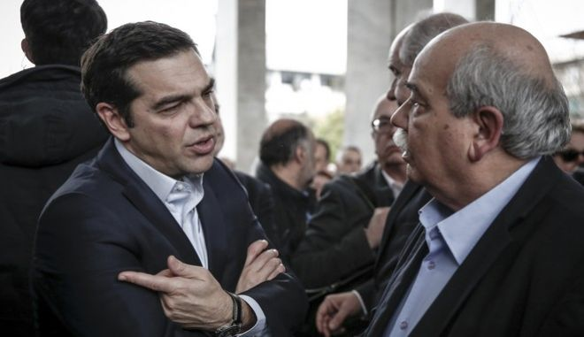 Φωτό αρχείου: Ο Αλέξης Τσίπρας με τον Νίκο Βούτση