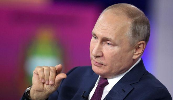 Ο πρόεδρος της Ρωσίας Βλαντιμίρ Πούτιν