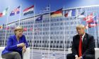 Η γερμανίδα καγκελάριος και ο πρόεδρος των ΗΠΑ