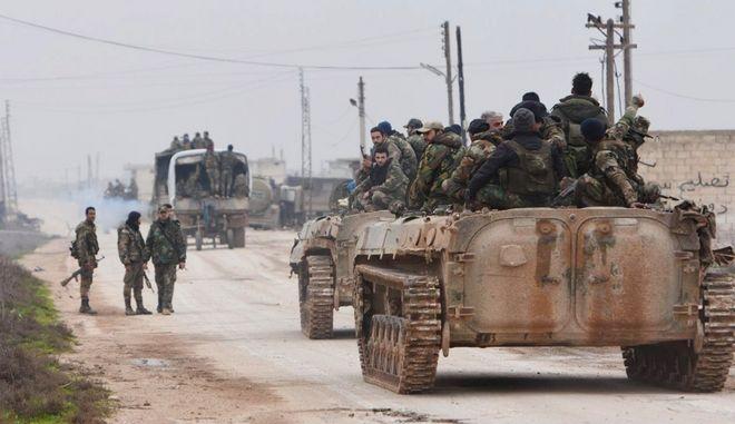 Συριακές δυνάμεις στην Ιντιλίμπ.