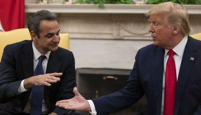 Ο Κυριάκος Μητσοτάκης και ο Ντόναλντ Τραμπ κατά την συνάντησή τους στον Λευκό Οίκο