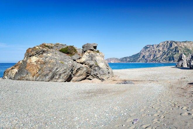 Η Παραλία Χιλιαδού στην Εύβοια