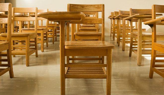 Άδεια σχολική τάξη