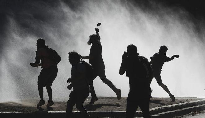 Διαδηλωτές στη Χιλή