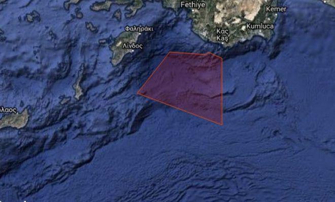 Η Ελλάδα απαντάει στην Τουρκία: Με Navtex δεσμεύει την ίδια περιοχή στο Καστελόριζο