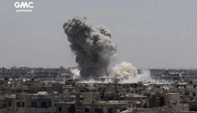 Επίθεση με ρουκέτες στη Δαμασκό