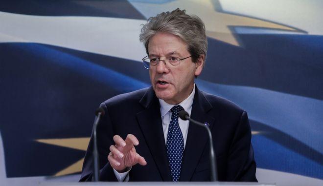 Συνάντηση του Υπουργού Οικονομικών Χρήστου Σταϊκούρα με τον Επίτροπο της ΕΕ αρμόδιο για θέματα Οικονομίας Paolo Gentiloni