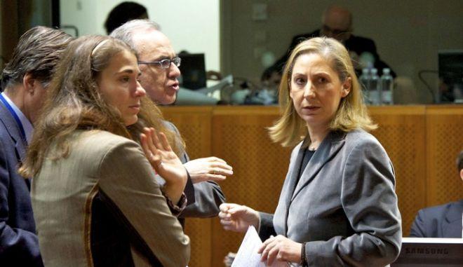 Η Αναπληρώτρια Υπουργός Εξωτερικών, Μαριλίζα Ξενογιαννακοπούλου, συμμετέχει στην συνεδρίαση του συμβουλίου Γενικών Υποθέσεων της Ευρωπαϊκής Ένωσης στις Βρυξέλλες, Παρασκευή 27 Ιανουαρίου 2012. (EUROKINISSI // ΣΥΜΒΟΥΛΙΟ ΤΗΣ ΕΥΡΩΠΑΪΚΗΣ ΕΝΩΣΗΣ) ** Ελεύθερη η χρήση για μη εμπορικούς σκοπούς. Να αναφέρεται ως πηγή το Συμβούλιο της Ευρωπαϊκής Ένωσης. **
