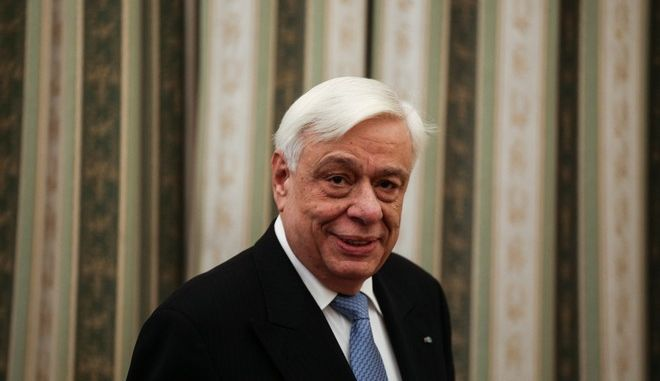 Greek president Prokopis Pavlopoulos received wishes for the new year from members of the political, military, intellectual and church community of Greece at the Presidential Mansion, in Athens, Greece on the 1st of January, 2017. /    , ,         ,  . , 1 , 2017.