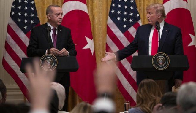 Ο Ντόναλντ Τραμπ με τον Ταγίπ Ερντογάν