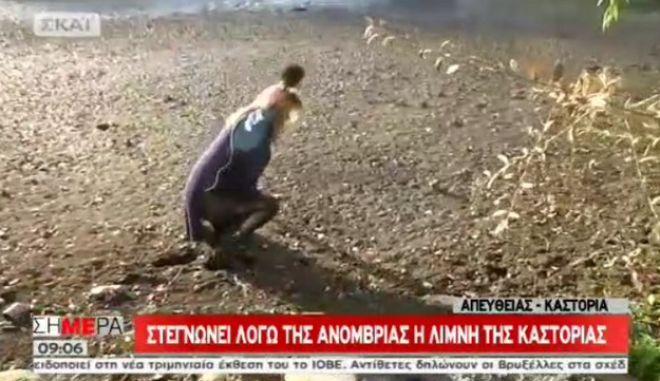 Η λίμνη της Καστοριάς 'κατάπιε' ρεπόρτερ σε ζωντανή σύνδεση