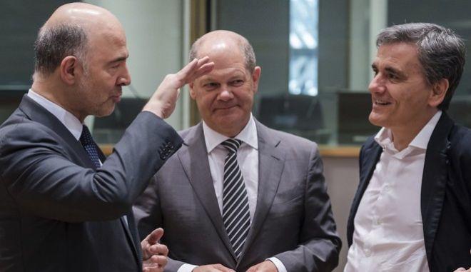 Οι υπουργοί οικονομικών της ευρωζώνης στη συνεδρίαση του eurogroup